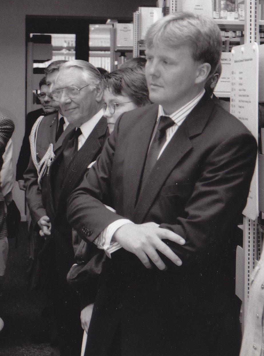 Bereits zu unserer Einweihung im Jahr 1989 besuchte uns der damalige niederländische Thronfolger Willem-Alexander gemeinsam mit dem belgischen Thronfolger Philippe.