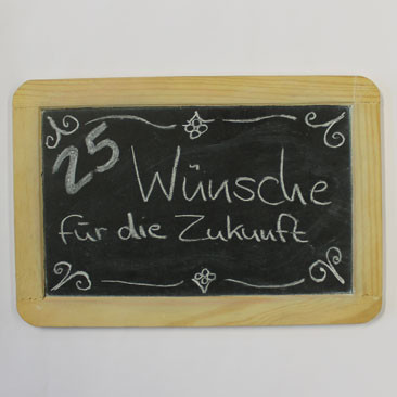 25. Dezember: 25 Wünsche für die Zukunft